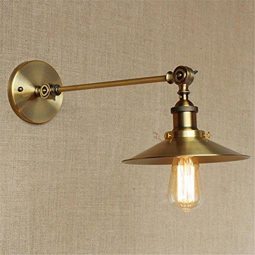 NIHE E27 lampe moderne chambre lampe murale minimaliste salon de personnalité créative industrie européenne du cuivre