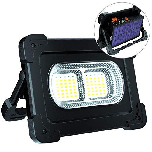 ERAY LED Baustrahler Akku 80W, LED Arbeitsleuchte Arbeitsscheinwerfer 10000mAh / IP65 Wasserdicht / 2 Ladenmethoden/als Power Bank / 4 Modi, Bauscheinwerfer für Werkstatt, Baustelle