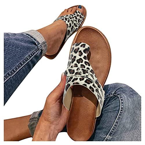 Sandales Compensées Femme été Mode Avec Support de Orthopédique Tongs de Plage et Claquettes de Piscine Plage Sandales Mousse de Yoga Piscine Chaussures
