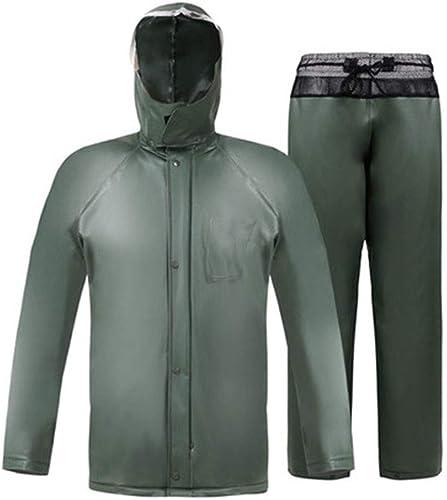 HBWJSH Pantalon imperméable imperméable Costume imperméable Poncho imperméable Hommes Adultes (Couleur   A, Taille   L)