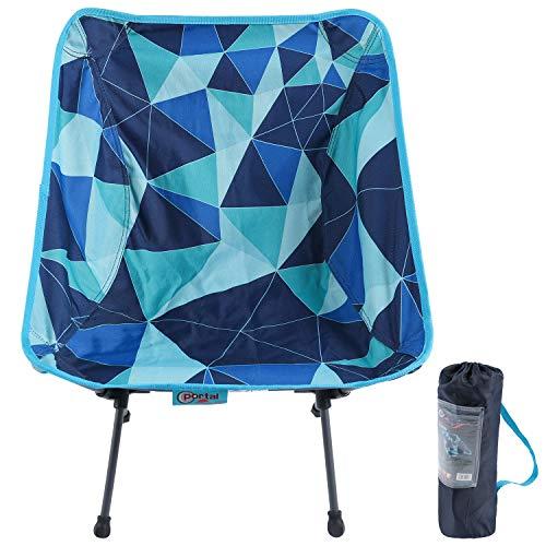 Portal ultraleichter campingstuhl klappbar kompakt Faltstuhl Angelstuhl faltbar tragbar mit Tragetasche Klappstuhl für Garten Camping Picknick Outdoor Indoor blau