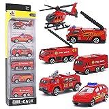 Mini Camion dei Pompieri Modelli Costruzione Veicoli Giocattolo per Bambini Ragazze e Raga...