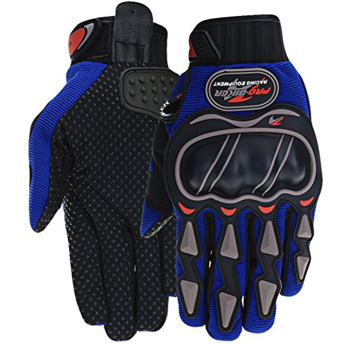PITZO Probiker Powersports Full Finger Riding Gloves (Blue, XXL)