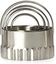 RSVP International Endurance (RBC-4) Round Biscuit Cutters, Set of 4, Stainless Steel
