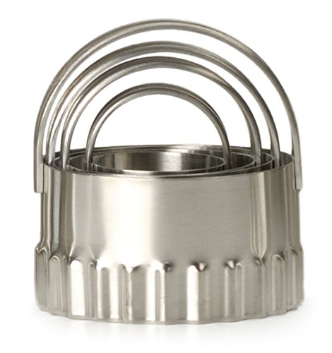 Ripple Round Biscuit Cutters - Stainless Steel