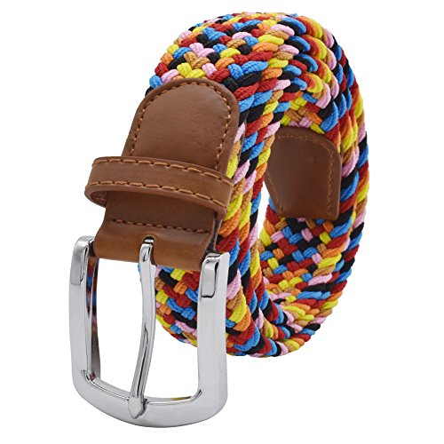 Stretch Belt, Vonsely Elastic Belts Braided Fabric Belt Colorful Woven Belts for Men and Women,Candy Color