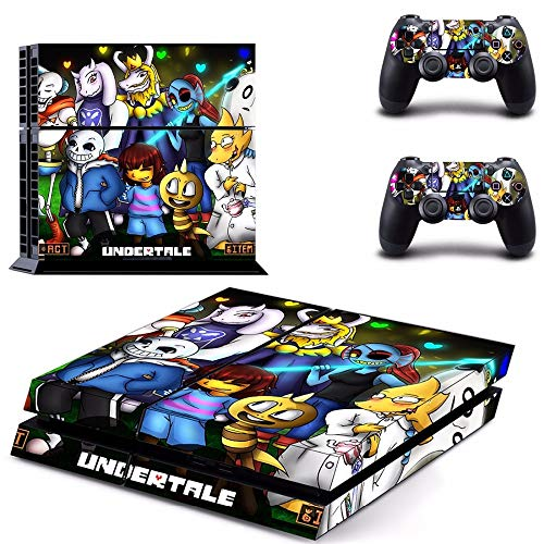 TSWEET Game Undertale Ps4 Skin Sticker for Playstation 4 Console and Controller for Dualshock 4 Ps4 Skins Sticker Decal Vinyl