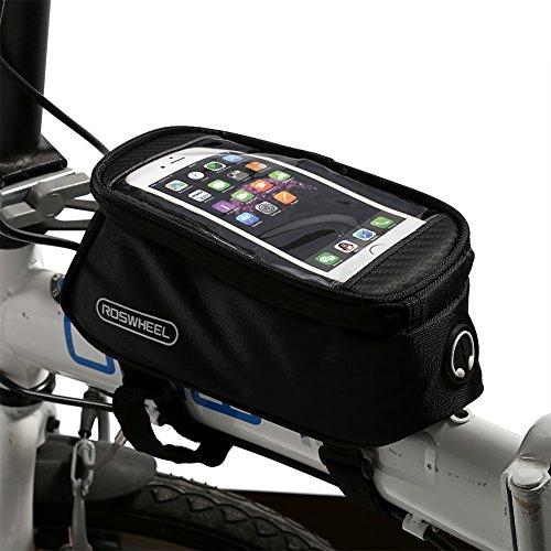 Bolsa Bicicleta Impermeable Roswheel Bolsa Funda Móvil de Bici Bolso del Tubo Pantalla PVC Transparente para Manillar de Bicicleta para teléfono 4.8-5.5 Inches