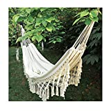 ZJM Aire Libre jardín Hamaca,algodón Suave Camping Hamaca con Mochila,Aire Libre jardín Hamaca,Hamaca de Lona,Mejor para Patio