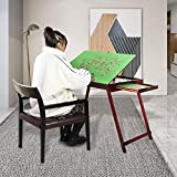 ❤ 【Tilted Tabletop】 -- This puzzle table doesn't need any assembly. The tabletop can be adjusted at three angles, 30 degrees, 45 degrees and 60 degrees, so that you don't have to lower your head and endure the pain of neck and back to complete your f...