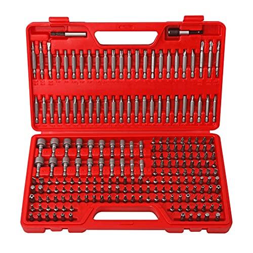 Caja de puntas de seguridad, 208 piezas, destornillador eléctrico, juego de puntas de reparación, herramientas para la reparación de diferentes aparatos eléctricos