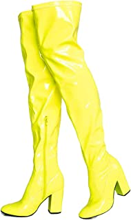 6c04f8c8cabb4 Amazon.com: Yellow - Over-the-Knee / Boots: Clothing, Shoes & Jewelry