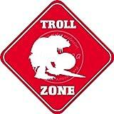 DIAN CLUB Troll Zone Wand Blechschild Eisen Malerei Metall