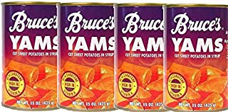 Bruce's Yams Sweet Potatoes in Syrup 15oz Cans (4 Pack)