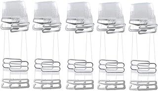 5 Pairs Invisible Bra Straps, Elastic Silicone Adjustable Anti skid Transparent Bra Straps