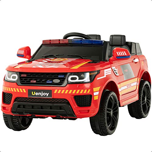 Find Discount Uenjoy 12V Kids Fire Fighter Ride On SUV Battery Operated Electric Cars w/2.4G Remote ...