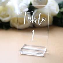 perspex table numbers