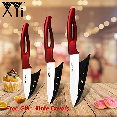 Best Quality Ceramic Kitchen Knife Set Chef Kitchen Knive Black or White Sharp Zirconium Blade ABS and TPR Hollow Handle Knife Chef Knives