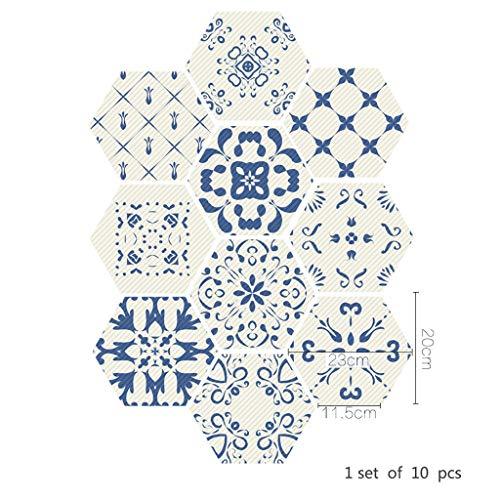 Tegel Stickers - [Vloertegels] - Folie Sticker Decals voor -to - Badkamer of Keuken I als alternatief voor Tegel Verf - Marokkaanse Retro Traditionele Verouderde Stijl Mozaïek Stijl Tegel transfers Stickers 011