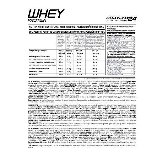 Bodylab24 Whey Protein Haselnuss-Schokolade 2000g mit Messlöffel - 5