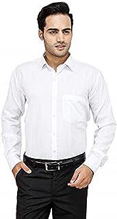 Melcom Full Sleeves Cotton Formal White Shirt for Men