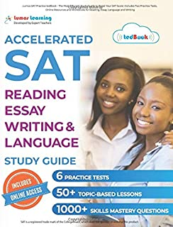 Lumos SAT Practice tedBook - The Most Efficient Study Guide to Boost Your SAT Score: Includes Two Practice Tests, Online Resources and Workbooks for ... by the Lumos Smart Test Prep Methodology
