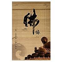 ZEMIN ロール竹カーテン ホーム背景壁装飾カーテン、光フィルタリングUV保護バルコニーパーティション、2つのスタイル (Color : Bamboo-A, Size : 120cmx160cm)