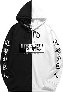 Boys Attack on Titan survey corps hoodie Pullover Hoodie Colorblock Sweatshirt with Pocket