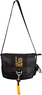 Farm Blue Messenger Bag – Officine Military Shoulder Courier Bag – Black