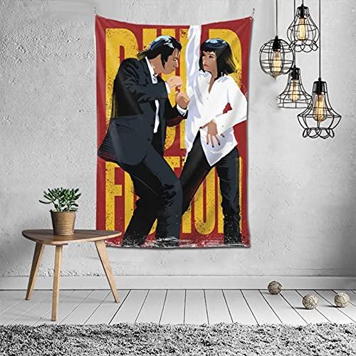 Tapiz de Pulp Fiction Exquisita manta de pared suave y agradable al tacto para sala de estar, dormitorio, decoración de paredes de 60 x 40 pulgadas