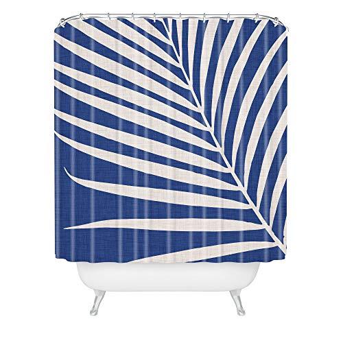 Society6 Duschvorhang, modern, tropisch, Vintage, Indigo-Palme, 183 x 175 cm, Blau