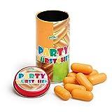 Erzi 15150 Party Würstchen aus Holz in der Dose, Kaufladenartikel für Kinder, Rollenspiele