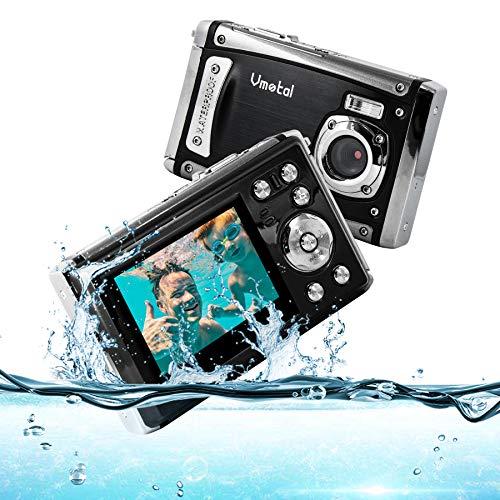 Cámara Digital Impermeable 1080P FHD / 12 MP/Pantalla LCD TFT de 2,31' / subacuática Recargable Cámara para niños/Adolescentes/Estudiantes/Principiantes/Ancianos