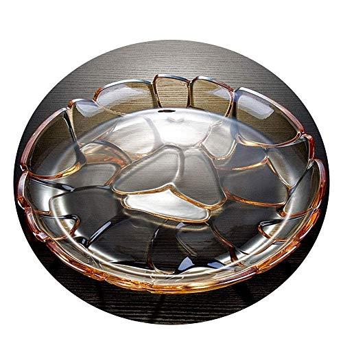 Bandeja de frutas, estilo europeo de vidrio retro plato de vidrio Snack Melón Placa de fruta Cesta Estante Dinning Decoración de mesa (tamaño, 36.5 * 7 cm), 36.5 * 4 cm Bowl (Tamaño: 36.5 * 4 cm) TING