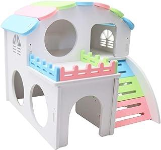#N/A ドワーフハムスター、マウス、ラット、スナネズミのためのハムスターの家の隠れ家の小屋の隠れ家の運動演劇のおもちゃ