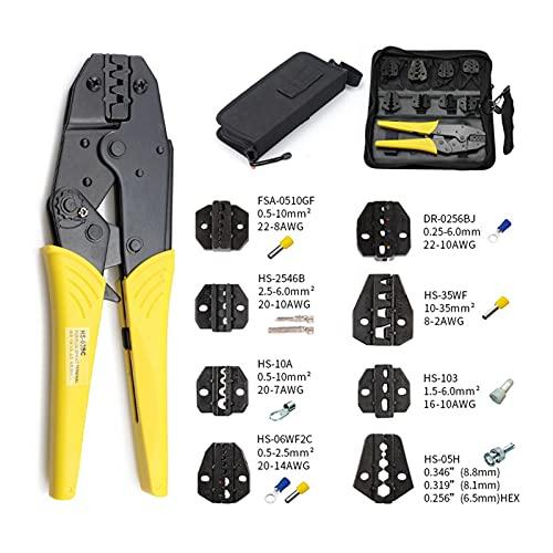 Herramientas de mantenimiento eléctrico Crimpadora HS-03BC 8 Jaw para enchufe / tubo...