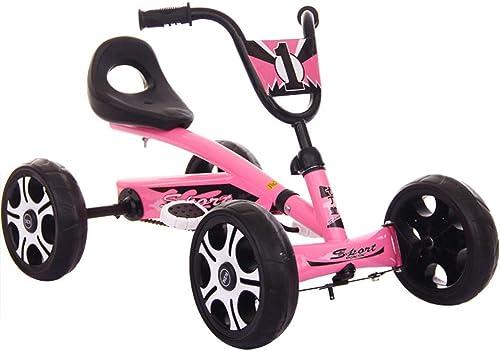 precios mas baratos Lvbeis Niños Go Kart Coche De Pedales Racing Deportivo Deportivo Deportivo Karting con Asiento Ajustable Y Neumático Inflable para De 5 A 14 años  ofreciendo 100%