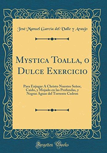 Mystica Toalla, o Dulce Exercicio: Para Enjugar Christo Nuestro Señor, Caído, y Mojado en las Profundas, y Negras Aguas del Torrente Cedron (Classic Reprint)