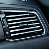 A'sTool 車用 エアコンルーバー 吹出し口に装着 ドレスアップ アクセサリー 10本セット シルバー