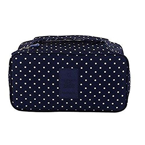 Dngdom Underwear Storage box portaoggetti porta biancheria intima sacchetto con maniglia portatile reggiseno proteggere custodia da viaggio, black (Bianco) - B01EL4XMW8