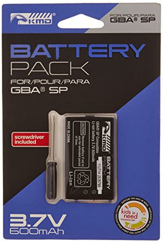 KMD GBA SP Replacement Lithium Ion Battery with Screwdriver - Game Boy Advance;