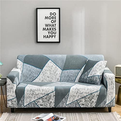 MKQB Funda de sofá geométrica, Funda de sofá elástica elástica para Sala de Estar, Funda de sofá de Esquina para decoración del hogar NO.9 2seat-M- (145-185cm