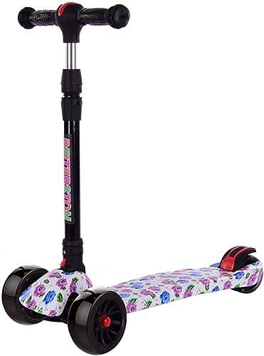 en linea MUYU Niño patea Scooter con Rueda de de de Flash de PU Patinete de Tres Ruedas de Altura Regulable Ideal para Niños de 3 a 12 años  marca en liquidación de venta