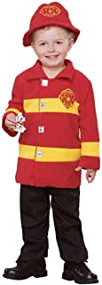 Seasons Direct Halloween Baby-Boy's Brave Firefighter Costume(12-18 M) Red and Yellow