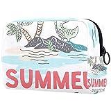 Estuche cosmético Estuches de Maquillaje para Mujer, Estuche pequeño para Maquillaje Estuches de Viaje para artículos de tocador - Summer Paradise Enjoy