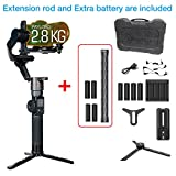 Feiyutech AK2000 3-Axis stabilized Handheld Gimbal Stabilizer for Nikon/Sony/Canon Series DSLR Digital Camera,LCD Touch Screen,WiFi+Bluetooth,2.8kg Payload with Extra Battery and Extension Rod