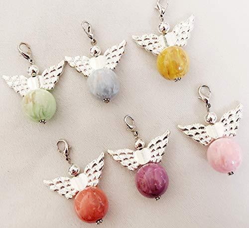 Halskette mit Anhänger, Ketten Anhänger mit Engelflügel, Wechselanhänger für Halskette, Halsband,Geschenk für Mama,Freundin,Frau