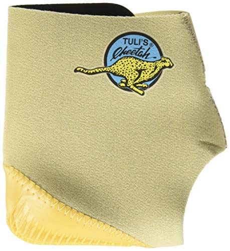Tuli's Cheetah Heel Cup for Barefoot Activities - One Size Fits Most Adults, Single