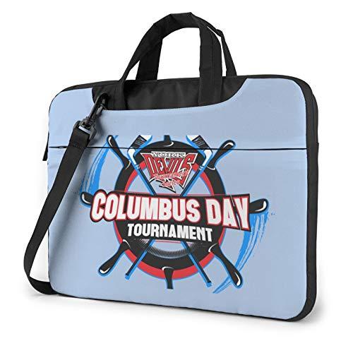 Empty Columbus Day Llaptop Bag 15.6 Inch Briefcase Shoulder Bag Satchel Tablet Bussiness Carrying Handbag Laptop Sleeve
