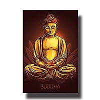 キャンバスに絵を描く宗教仏像プリント禅仏肖像画壁画ポスターリビングルームの家の装飾写真20x25cmフレームレス